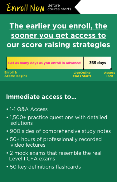 CFA Immediate Access Banner