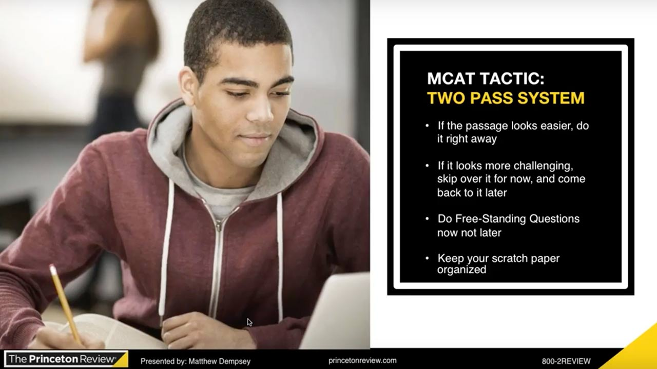 screenshot MCAT Spotlight: Critical Analysis and Reasoning Skills