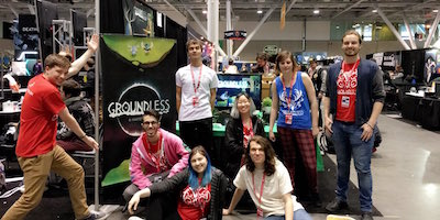 Game Design Major Seniors with Groundless