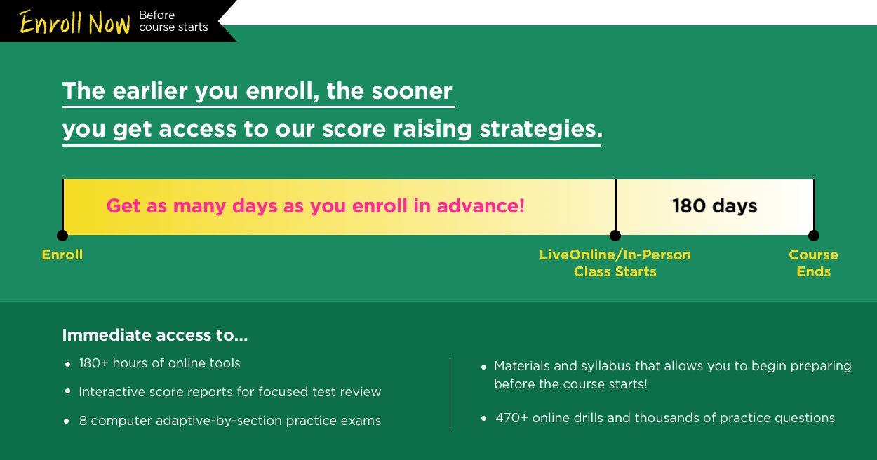 chart showing why to enroll now