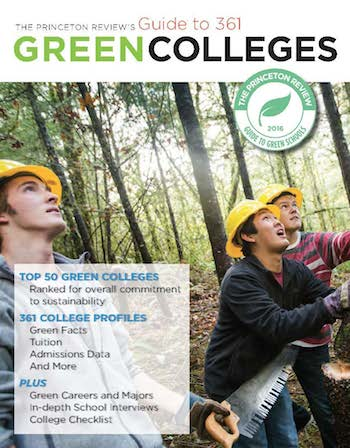 Guide to 361 Green Colleges 2017 cover