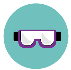 MCAT lab goggles icon
