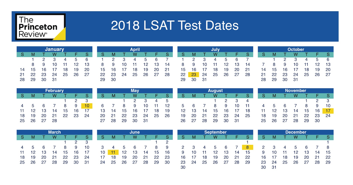 Lsat test dates 20182019 the princeton review malvernweather Gallery