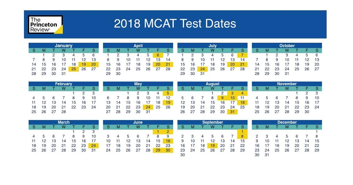 Utd Academic Calendar Spring 2020.Mcat Test Dates 2019 Registration Dates The Princeton Review