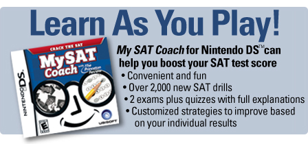 My SAT Coach for Nintendo DS banner
