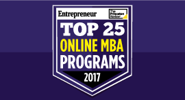Online MBA Top 25 seal