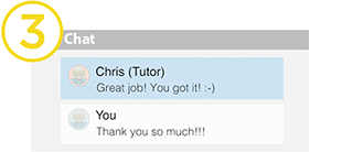Chat with an expert tutor