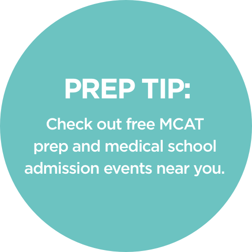 Check out free MCAT prep amd medical school admissions events near you