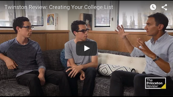 Twinston Review creating your college list video