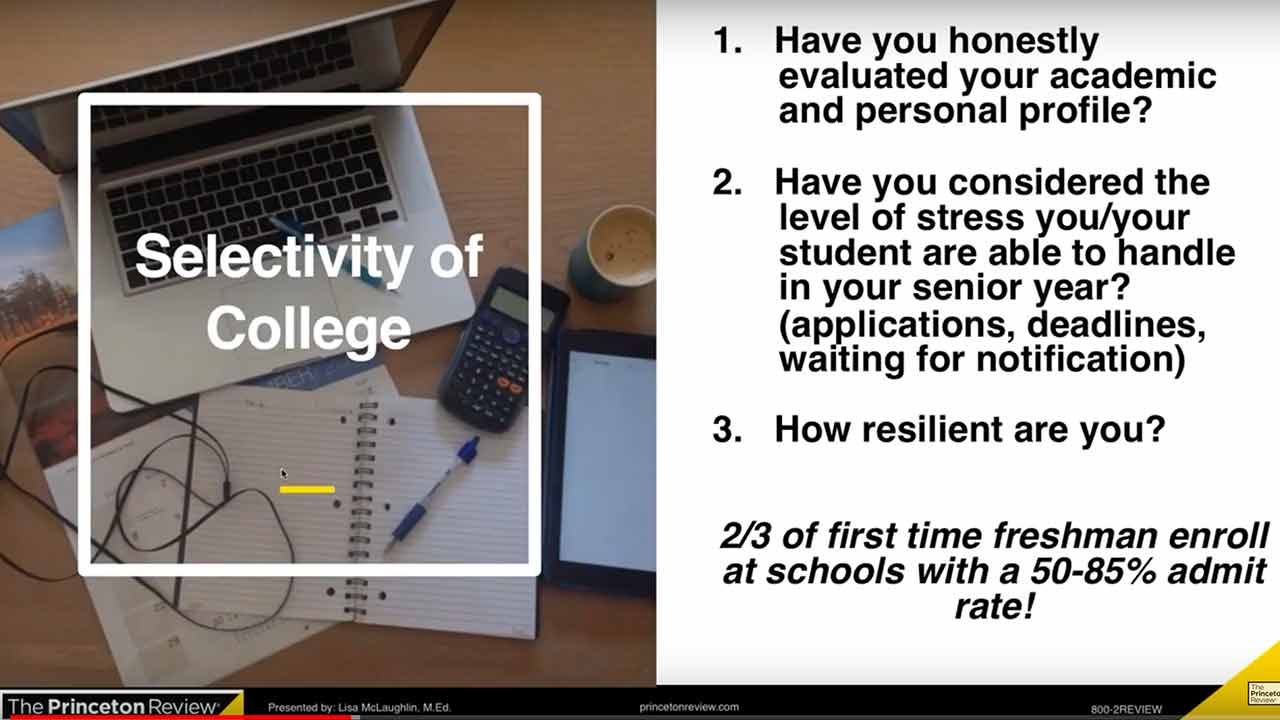 screenshot Colleges Admissions Hour: What makes a good college list?