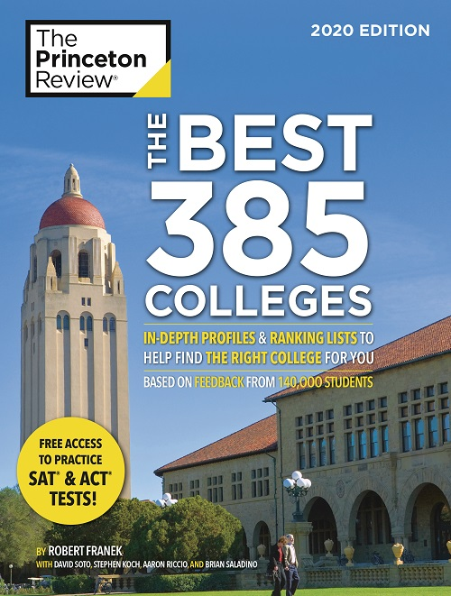 The Best 385 Colleges: 2020 Edition Book Cover